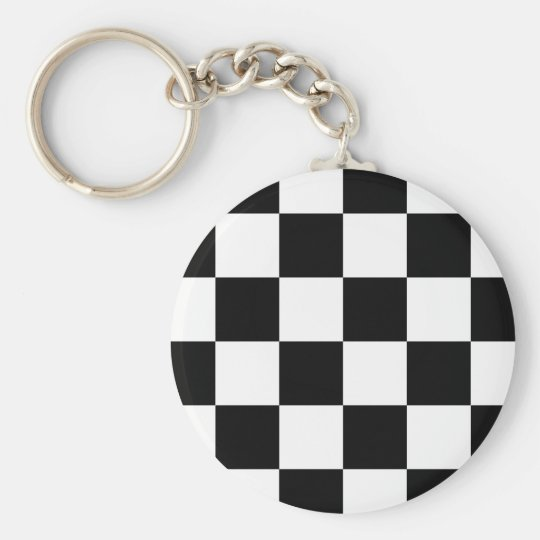 Auto Racing Chequered Chequered Flag Key Ring