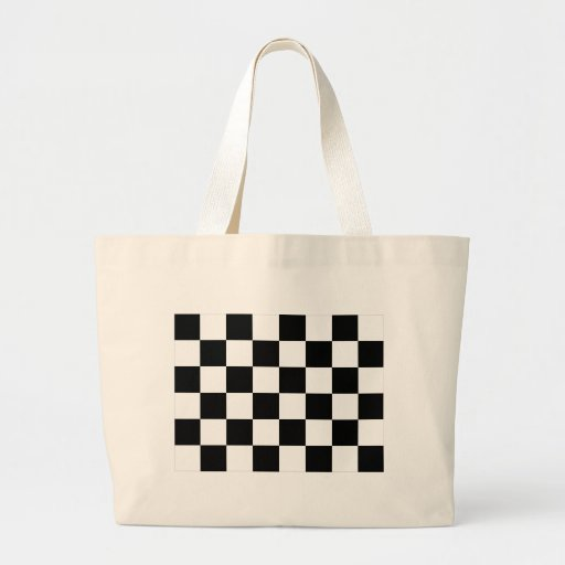 Auto Racing Chequered Flag Tote Bag