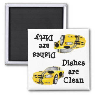 Auto Racing Clean Dirty Dishwasher Magnet