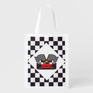 Auto Racing Design Reusable Tote