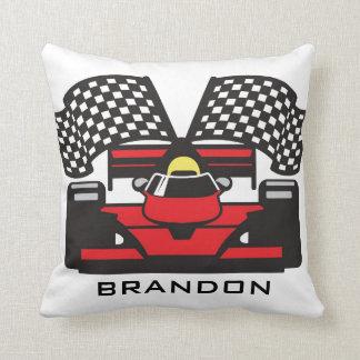 Auto Racing Design Throw Pillow Cushion
