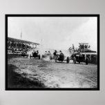 Auto Racing Near Washington, DC 1922 Print