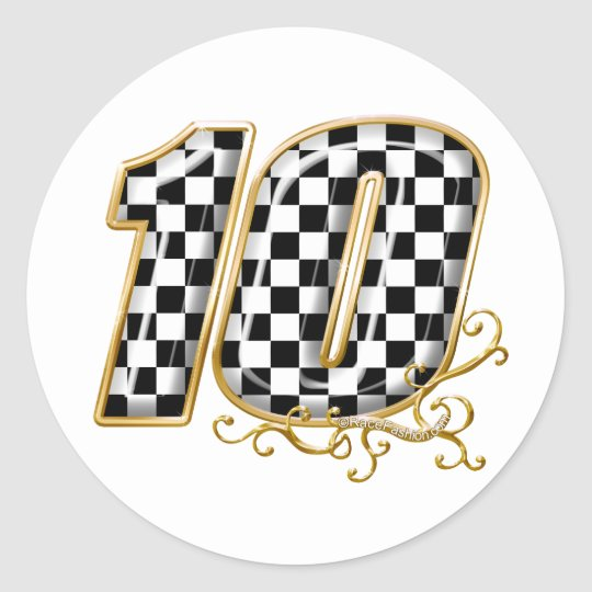 auto racing number 10 in gold classic round