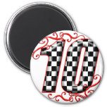 auto racing number 10 magnet