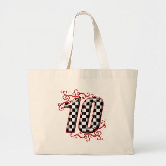 auto racing number 10 canvas bag