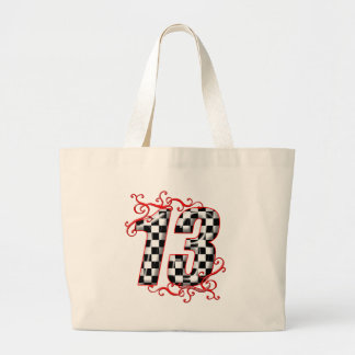 auto racing number 13 canvas bag