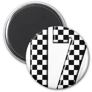 auto racing number 17 6 cm round magnet