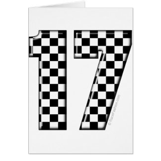 auto racing number 17 greeting card