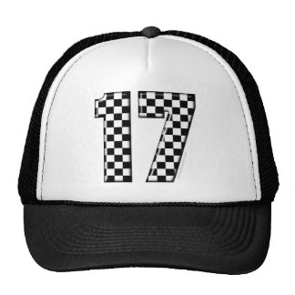 auto racing number 17 hats