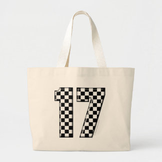 auto racing number 17 large tote bag