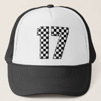 auto racing number 17 trucker hat