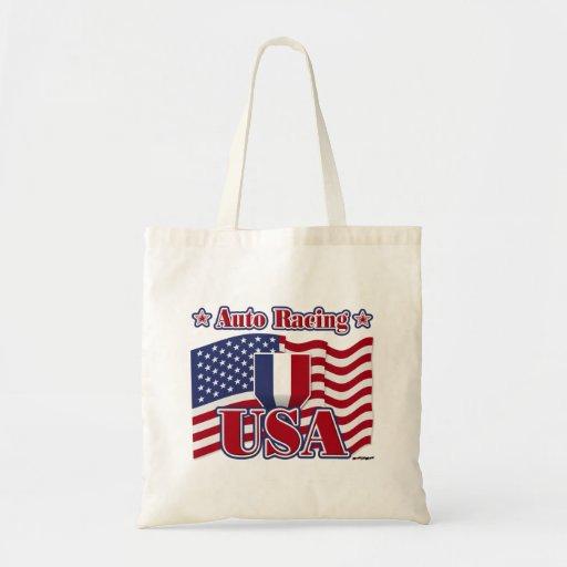 Auto Racing USA Canvas Bags