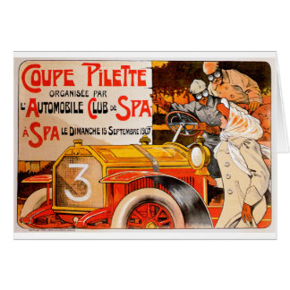 Auto Rally Race ~ Vintage Automobile Car Ad Greeting Card