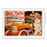 Auto Rally Race ~ Vintage Automobile Car Ad Greeting Card