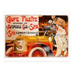 Auto Rally Race ~ Vintage Automobile Car Ad Postcard