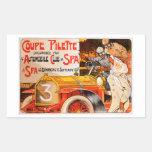Auto Rally Race ~ Vintage Automobile Car Ad Rectangular Sticker