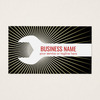 Auto Repair Construction Handyman Big Spanner Business Card