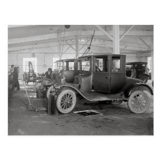 Auto Repair Garage, 1926 Postcard