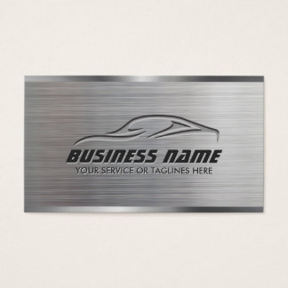 Auto Repair Professional Car Metallic Automotive Business Card