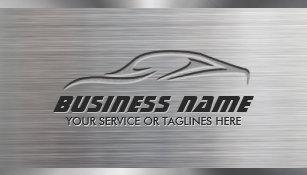 Mechanic business cards zazzle uk auto repair professional car metallic automotive business card reheart Gallery