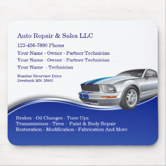 Auto Repair Service Design Mouse Mat