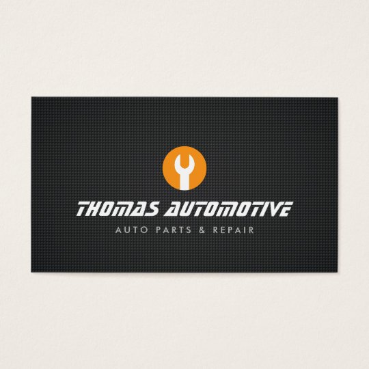 Auto Repair Wrench Logo Business Card