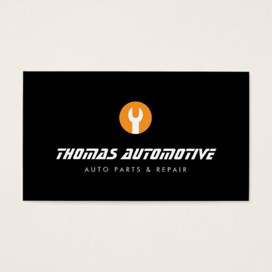 Auto Repair Wrench Logo II Business Card