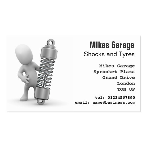 Auto Repairs Garage Business Card