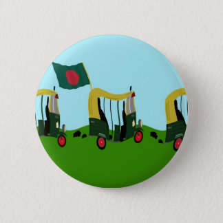 Auto Rickshaws in Bangladesh 6 Cm Round Badge