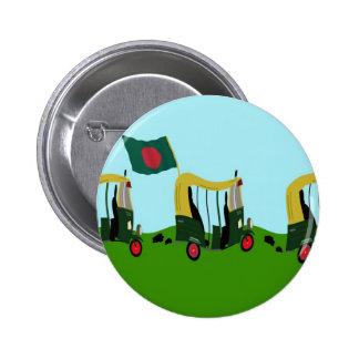 Auto Rickshaws in Bangladesh 6 Cm Round Badge