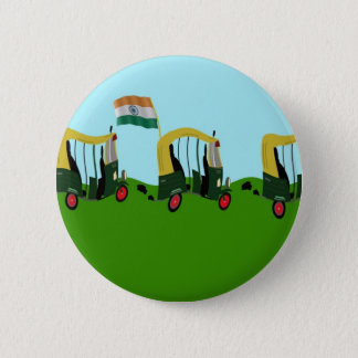 Auto Rickshaws in India 6 Cm Round Badge