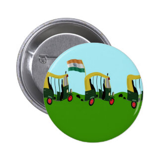 Auto Rickshaws in India 6 Cm Round Badge