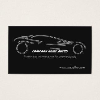 Auto Sales, Luxury Silver Sportscar on black