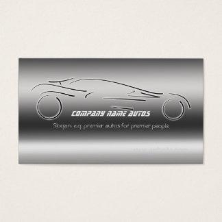 Auto Sales, Luxury Silver Sportscar, steel-effect