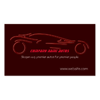 Auto Sales Sports car on luxury red Business Card Template