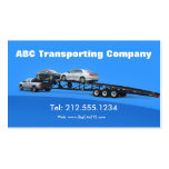 Auto Transporter Car Hauling Logistics Pack Of Standard Business Cards