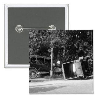 Auto Wreck, 1922 15 Cm Square Badge