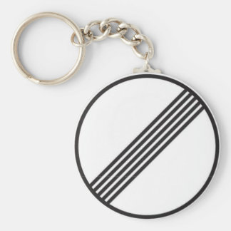Autobahn No Speed Limits Basic Round Button Key Ring