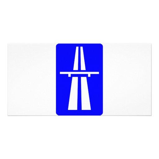 Autobahn Sign Photo Greeting Card