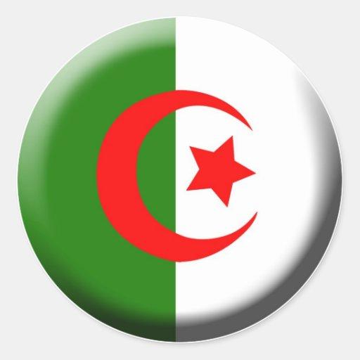 Autocollant Algérie Round Sticker