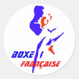 Autocollant Boxe Française Round Sticker