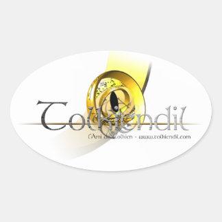 Autocollant Logo Scratches Tolkiendil Oval Sticker