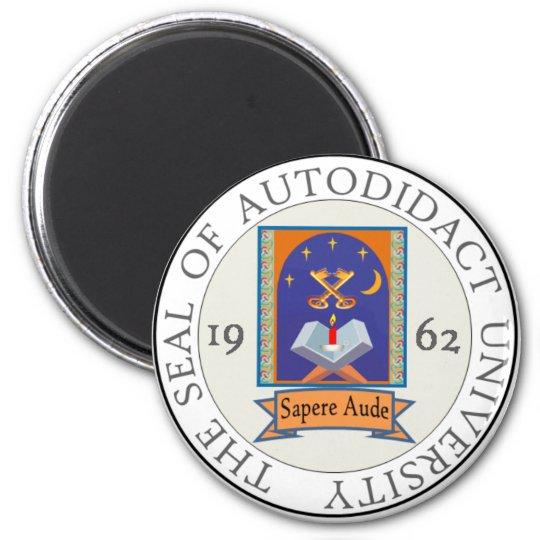 Autodidact University Seal 6 Cm Round Magnet