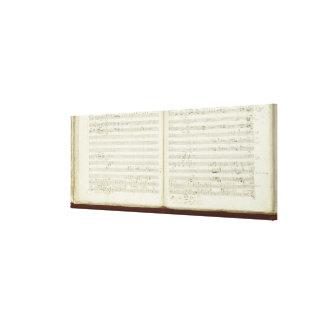 Autograph copy of 'The Magic Flute' Canvas Print