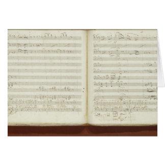 Autograph copy of 'The Magic Flute' Card
