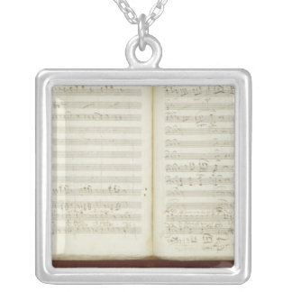 Autograph copy of 'The Magic Flute' Silver Plated Necklace