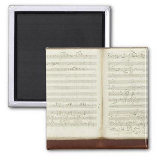 Autograph copy of 'The Magic Flute' Square Magnet