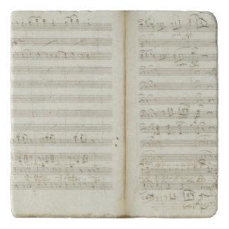 Autograph copy of 'The Magic Flute' Trivets