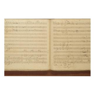 Autograph copy of 'The Magic Flute' Wood Prints