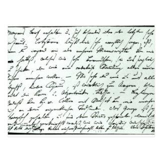 Autograph letter from Franz Schubert Postcard